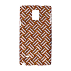Woven2 White Marble & Rusted Metal Samsung Galaxy Note 4 Hardshell Case by trendistuff