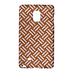 Woven2 White Marble & Rusted Metal Galaxy Note Edge by trendistuff