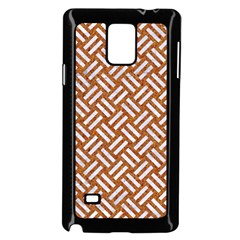Woven2 White Marble & Rusted Metal Samsung Galaxy Note 4 Case (black) by trendistuff