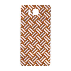 Woven2 White Marble & Rusted Metal Samsung Galaxy Alpha Hardshell Back Case by trendistuff
