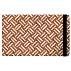 Woven2 White Marble & Rusted Metal Apple Ipad Pro 9 7   Flip Case by trendistuff