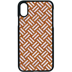 Woven2 White Marble & Rusted Metal Apple Iphone X Seamless Case (black) by trendistuff