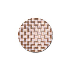 Woven1 White Marble & Rusted Metal (r) Golf Ball Marker (10 Pack) by trendistuff