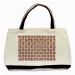 WOVEN1 WHITE MARBLE & RUSTED METAL (R) Basic Tote Bag Front