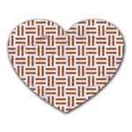 WOVEN1 WHITE MARBLE & RUSTED METAL (R) Heart Mousepads Front