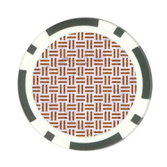 Woven1 White Marble & Rusted Metal (r) Poker Chip Card Guard by trendistuff