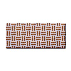 Woven1 White Marble & Rusted Metal (r) Cosmetic Storage Cases