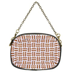 Woven1 White Marble & Rusted Metal (r) Chain Purses (two Sides)  by trendistuff