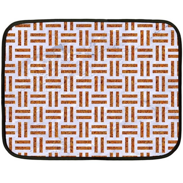 WOVEN1 WHITE MARBLE & RUSTED METAL (R) Double Sided Fleece Blanket (Mini)