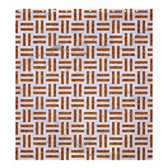 Woven1 White Marble & Rusted Metal (r) Shower Curtain 66  X 72  (large)  by trendistuff