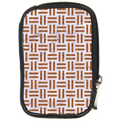 Woven1 White Marble & Rusted Metal (r) Compact Camera Cases by trendistuff