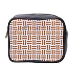 WOVEN1 WHITE MARBLE & RUSTED METAL (R) Mini Toiletries Bag 2-Side Front