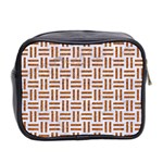 WOVEN1 WHITE MARBLE & RUSTED METAL (R) Mini Toiletries Bag 2-Side Back
