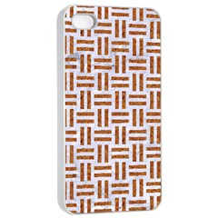 Woven1 White Marble & Rusted Metal (r) Apple Iphone 4/4s Seamless Case (white) by trendistuff