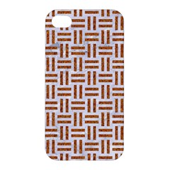 Woven1 White Marble & Rusted Metal (r) Apple Iphone 4/4s Hardshell Case by trendistuff