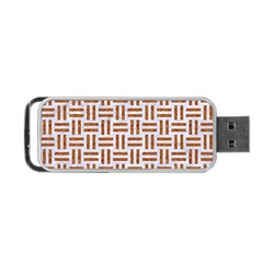 Woven1 White Marble & Rusted Metal (r) Portable Usb Flash (two Sides) by trendistuff