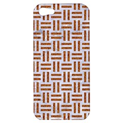 Woven1 White Marble & Rusted Metal (r) Apple Iphone 5 Hardshell Case