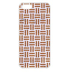 Woven1 White Marble & Rusted Metal (r) Apple Iphone 5 Seamless Case (white) by trendistuff