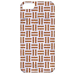 Woven1 White Marble & Rusted Metal (r) Apple Iphone 5 Classic Hardshell Case by trendistuff