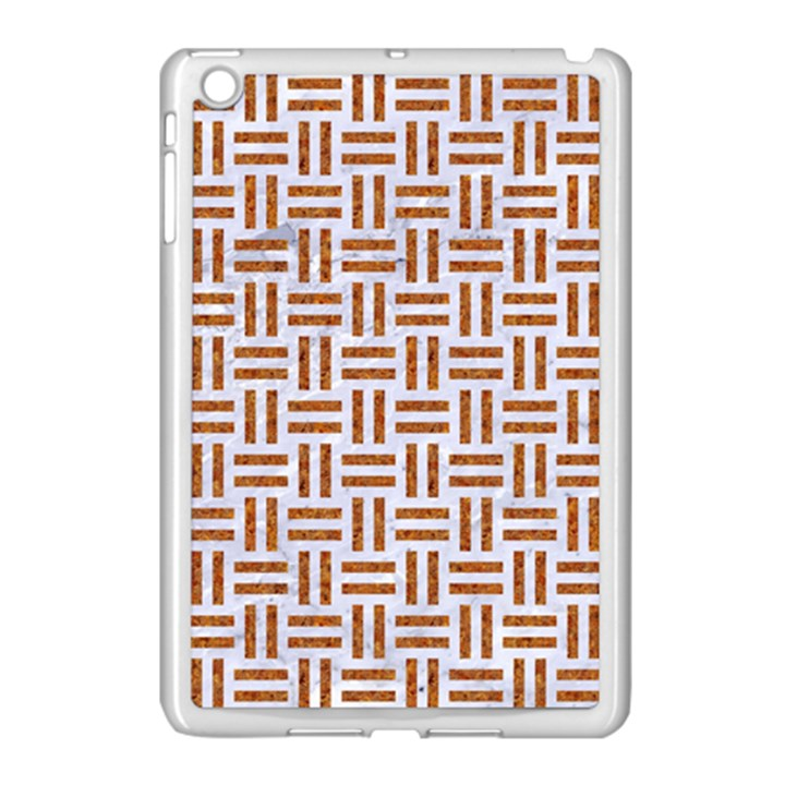 WOVEN1 WHITE MARBLE & RUSTED METAL (R) Apple iPad Mini Case (White)