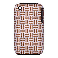 Woven1 White Marble & Rusted Metal (r) Iphone 3s/3gs by trendistuff