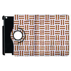 Woven1 White Marble & Rusted Metal (r) Apple Ipad 2 Flip 360 Case by trendistuff