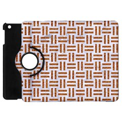 Woven1 White Marble & Rusted Metal (r) Apple Ipad Mini Flip 360 Case by trendistuff
