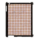 WOVEN1 WHITE MARBLE & RUSTED METAL (R) Apple iPad 3/4 Case (Black) Front