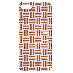 Woven1 White Marble & Rusted Metal (r) Apple Iphone 5 Hardshell Case With Stand by trendistuff