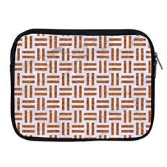 Woven1 White Marble & Rusted Metal (r) Apple Ipad 2/3/4 Zipper Cases by trendistuff