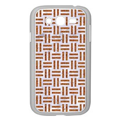 Woven1 White Marble & Rusted Metal (r) Samsung Galaxy Grand Duos I9082 Case (white) by trendistuff