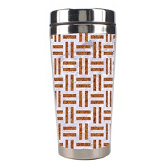 Woven1 White Marble & Rusted Metal (r) Stainless Steel Travel Tumblers by trendistuff