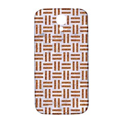 Woven1 White Marble & Rusted Metal (r) Samsung Galaxy S4 I9500/i9505  Hardshell Back Case