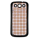 WOVEN1 WHITE MARBLE & RUSTED METAL (R) Samsung Galaxy S3 Back Case (Black) Front