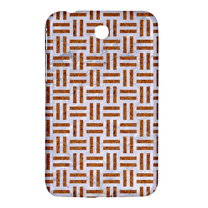 WOVEN1 WHITE MARBLE & RUSTED METAL (R) Samsung Galaxy Tab 3 (7 ) P3200 Hardshell Case
