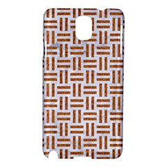 Woven1 White Marble & Rusted Metal (r) Samsung Galaxy Note 3 N9005 Hardshell Case by trendistuff