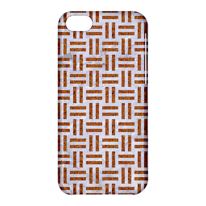 WOVEN1 WHITE MARBLE & RUSTED METAL (R) Apple iPhone 5C Hardshell Case