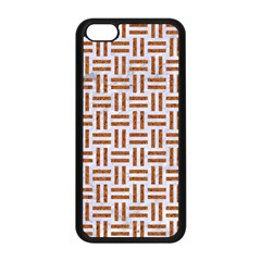Woven1 White Marble & Rusted Metal (r) Apple Iphone 5c Seamless Case (black) by trendistuff