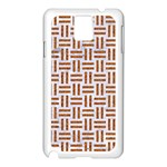 WOVEN1 WHITE MARBLE & RUSTED METAL (R) Samsung Galaxy Note 3 N9005 Case (White) Front