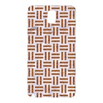 WOVEN1 WHITE MARBLE & RUSTED METAL (R) Samsung Galaxy Note 3 N9005 Hardshell Back Case Front