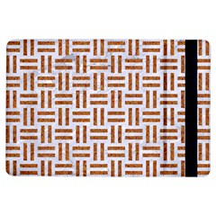 Woven1 White Marble & Rusted Metal (r) Ipad Air Flip by trendistuff