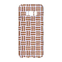 Woven1 White Marble & Rusted Metal (r) Samsung Galaxy S8 Hardshell Case  by trendistuff