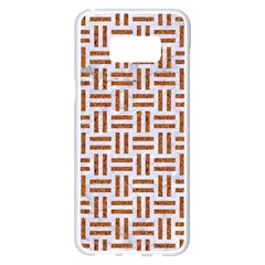 Woven1 White Marble & Rusted Metal (r) Samsung Galaxy S8 Plus White Seamless Case by trendistuff
