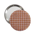 WOVEN1 WHITE MARBLE & RUSTED METAL 2.25  Handbag Mirrors Front