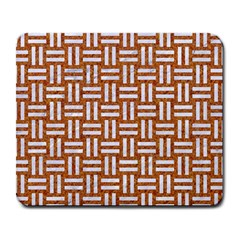 WOVEN1 WHITE MARBLE & RUSTED METAL Large Mousepads