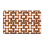 WOVEN1 WHITE MARBLE & RUSTED METAL Magnet (Rectangular) Front