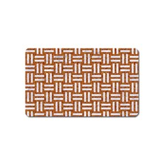 WOVEN1 WHITE MARBLE & RUSTED METAL Magnet (Name Card)
