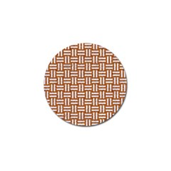 WOVEN1 WHITE MARBLE & RUSTED METAL Golf Ball Marker