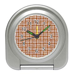 WOVEN1 WHITE MARBLE & RUSTED METAL Travel Alarm Clocks