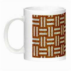 WOVEN1 WHITE MARBLE & RUSTED METAL Night Luminous Mugs